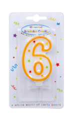 Numeral Candles - Dots Numeral Candle No. 6 - 91677