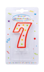 Numeral Candles - Dots Numeral Candle No. 7 - 91678