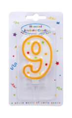 Numeral Candles - Dots Numeral Candle No. 9 - 91680