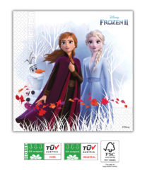 Frozen 2 Destiny Awaits Compostable - Home & Industrial Compostable Three-Ply Paper Napkins 33x33 cm FSC - 91732