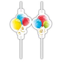 Sparkling Balloons - Medallion Paper Drinking Straws - 91838