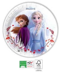 Frozen 2 Destiny Awaits Compostable - Paper Plates 20 cm Industrial Compostable FSC - 91851
