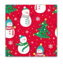 Seasonal Napkin Designs - Xmas Trees & Snowflakes Three-Ply Paper Napkins 33x33 cm. - 91862
