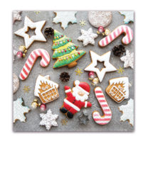 Seasonal Napkin Designs - Special Christmas Biscuits Three-Ply Paper Napkins 33x33 cm. - 91864