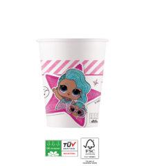 LOL Squad Goals Compostable - Industrial Compostable Paper Cups 200 ml FSC - 91872