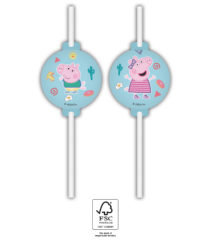 Peppa Pig Messy Play - Medallion Paper Straws FSC - 91881