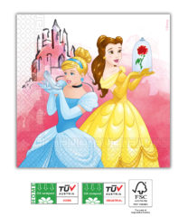 Princess Fabulous Compostable - Three-Ply Napkins 33x33 cm Home & Industrial Compostable FSC - 91883