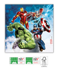 Avengers Fight - Home & Industrial Compostable Three-Ply Napkins 33x33 cm FSC - 91903