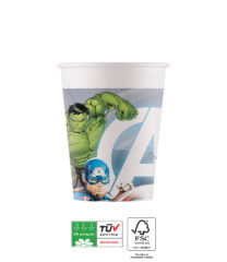 Avengers Fight Compostable - Paper Cups 200 ml FSC - 91904