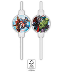 Mighty Avengers - Paper Drinking Straws FSC - 91905