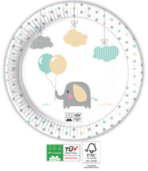 Elephant Baby Compostable - Industrial Compostable Paper Plates 23 cm - 91906