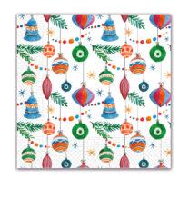 Seasonal Napkin Designs - Christmas Bells & Ornaments Three-Ply Paper Napkins 33x33 cm. - 92022