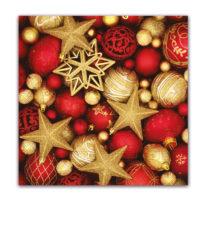 Seasonal Napkin Designs - Christmas Glitter Stars Three-Ply Paper Napkins 33x33 cm. - 92024