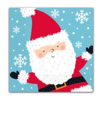 Seasonal Napkin Designs - Snata Claus In The Snow Three-Ply Paper Napkins 33x33 cm. - 92025
