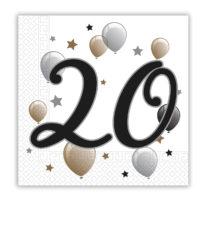 Milestone - Two-Ply Paper Napkins 33x33 cm Age 20 - 92088