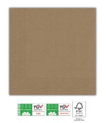 Kraft Tableware - Kraft Paper Napkins Home & Industrial Compostable 33x33 cm. - 92117