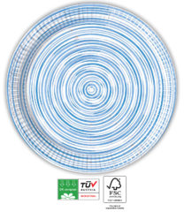 Blue Circles Compostable - Industrial Compostable Paper Plates 23 cm FSC - 92128