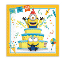 Minions: The Rise of Gru - Two-Ply Paper Napkins 33x33 cm. - 92136