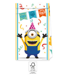 Minions: The Rise of Gru - Paper Party Bags 22 cm FSC. - 92138