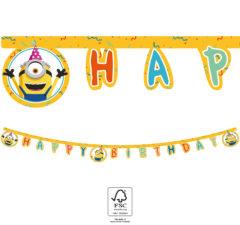 "Minions: The Rise of Gru - ""Happy Birthday"" Die-Cut Banner 2 m. FSC. - 92139"