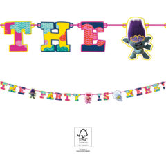 """Trolls 2 World Tour - """"The Party is Here"""" Die-Cut Banner FSC - 92145"""