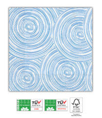 Blue Circles Compostable - Home & Industrial Compostable Three-Ply Napkins 33x33 cm FSC - 92207