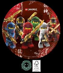 Lego Ninjago - Paper Plates 23 cm FSC. - 92239