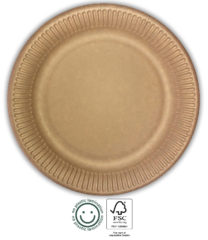 Kraft Tableware - Kraft Paper Plates 23 cm - 92337