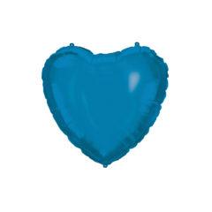 Shaped Foil Balloons - Blue Heart Foil Balloon 46 cm. - 92412