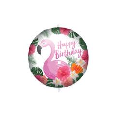 Shaped Foil Balloons - Flamingo Happy Birthday Foil Balloon 46 cm. - 92413