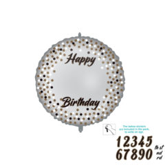 Shaped Foil Balloons - Personalized Milestone Foil Balloon 46 cm. - 92414