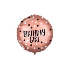Shaped Foil Balloons - Rose-Gold Birthday Girl Foil Balloon 46 cm. - 92415