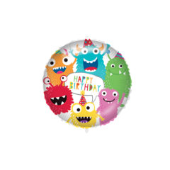 Shaped Foil Balloons - Happy Birthday Monsters Foil Balloon 46 cm. - 92429
