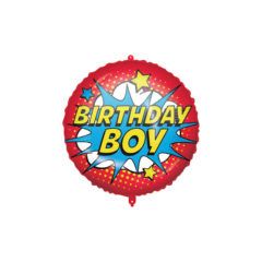 Shaped Foil Balloons - Happy Birthday Superhero Foil Balloon 46 cm. - 92436