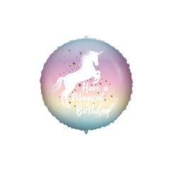 Shaped Foil Balloons - Magical Birthday Unicorn Foil Balloon 46 cm. - 92439