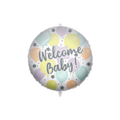 Shaped Foil Balloons - Welcome Baby Foil Balloon 46 cm. - 92440