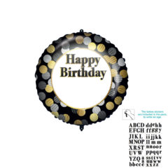 Shaped Foil Balloons - Personalized Happy Birthday Foil Balloon 46 cm. - 92441