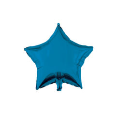 Shaped Foil Balloons - Blue Star Foil Balloon 46 cm. - 92450