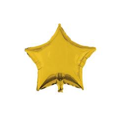 Shaped Foil Balloons - Gold Star Foil Balloon 46 cm. - 92453