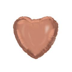 Shaped Foil Balloons - Rose Gold Heart Foil Balloon 46 cm. - 92455