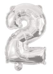 Numeral Foil Balloons - Silver Foil Balloon 94 cm. No. 2. - 92468