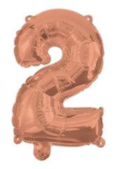 Numeral Foil Balloons - Rose Gold Foil Balloon 94 cm. No. 2. - 92478