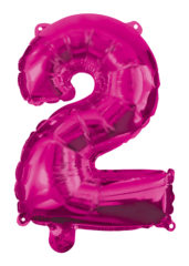 Numeral Foil Balloons - Hot Pink Foil Balloon 95 cm. No 2. - 92488