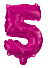 Numeral Foil Balloons - Hot Pink Foil Balloon 95 cm. No 5. - 92491