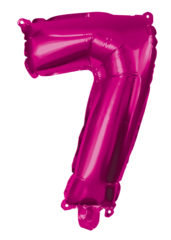Numeral Foil Balloons - Hot Pink Foil Balloon 95 cm. No 7. - 92493