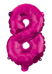 Numeral Foil Balloons - Hot Pink Foil Balloon 95 cm. No 8. - 92494