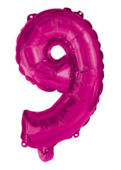 Numeral Foil Balloons - Hot Pink Foil Balloon 95 cm. No 9. - 92495