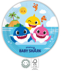 Baby Shark - Paper Plates 23 cm FSC. - 92540