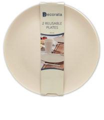 Solid Color Reusable - Crème Reusable Plates 25 cm.  - 92889