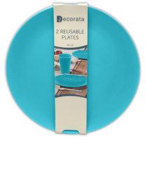 Solid Color Reusable - Turquoise Reusable Plates 25 cm.  - 92890
